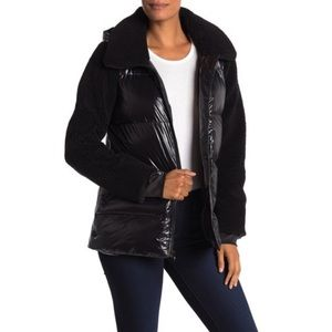 MICHAEL KORS Missy Faux Shearling Nylon Jacket